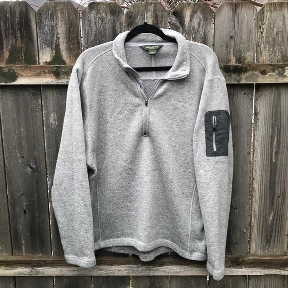 Eddie Bauer Pullover Half Zip Fleece Size XL (O)